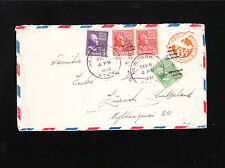 PREXIES New York to Switzerland 12.5.39 North Atlantic Route Uprated PSE Cover ú