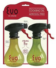 Evo Grill Olive Oil and Cooking Oil Trigger Sprayer Bottle, 8oz, 2 Pcs - 8111