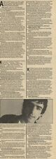 20/8/83PN24/25 ARTICLE WITH PICTURE: JAZ COLEMAN 0F KILLING JOKE