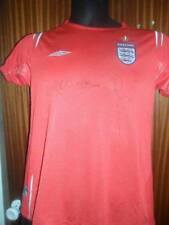 David Beckham and Michael Owen signed England shirt