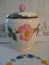 Franciscan DESERT ROSE Jam Jelly Jar with Lid (136231) Made USA~ Pink Floral EUC