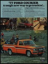 1977 FORD Courier XLT Orange Black & White  Pickup Truck VINTAGE AD