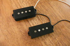 BASS GUITAR PICKUPS 60'S VINTAGE STYLE TWANG FOR P BASS ALNICO 5 MAGNETS BLACK