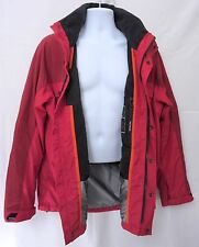 Tommy Hilfiger Performance Red Jacket Hood VTG Yacht Coat Storm Flap 90's M Sail