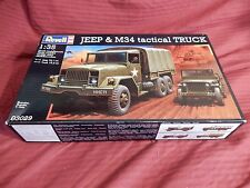 1/35 Revell US Jeep & M34 Tactical Truck # 03029 Open Box Sealed Bags