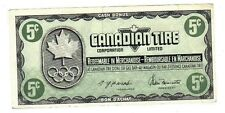 1976 5c CTC CANADIAN TIRE MONEY NOTE coupon gas bar 1976 Olympics KN1189554