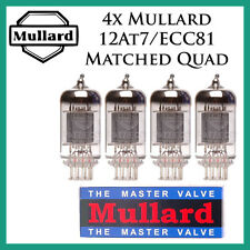 New 4x Mullard 12AT7 / ECC81 | Matched Quad / Quartet / Four Tubes | Free Ship
