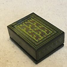 Vintage Retro Black Lacquered Wooden Jewellery Trinket Box Green Blue Pink