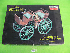 vintage minicraft car model kit 1/16 1886 daimler benz boxed 1510