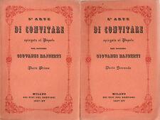 Rajberti - L'Arte di Convitare spiegata al popolo - Milano 1937 Galateo
