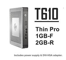 HP T610 Thin Client Thin Pro ThinPro 1GB-F 2GB-R  H1Y29AT#ABA w/PS+   Lot_Avail