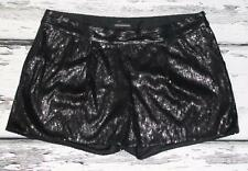 EXPRESS DESIGN STUDIO *GLITTER SEQUINS STUDDED* COCKTAIL PARTY~MINI SHORTS~12