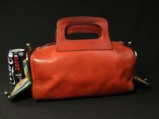 "Vintage COACH 60's Bonnie Cashin ""Double Header"" Kiss lock Leather Purse, Rare!"