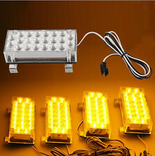 Universal 4x Module 22 Amber LED 12v Emergency Warning Flash Strobe