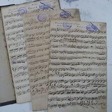 orchestra parts DER BAUER VON PRESTON OVERTURE adam .antique handwritten