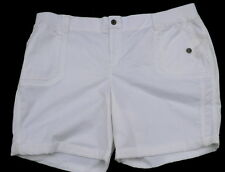 Sonoma 24W white shorts womens stretch comfort waist new nwt mid rise short
