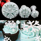 NEW 3pc Snowflake Cookies Biscuit Cake mold Decor Plunger Cutter Mold Tool 073