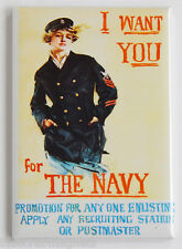 I Want You for the U.S. Navy FRIDGE MAGNET recruiting poster ww1