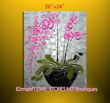 """YH746 20*24""""Hand painted Oil Canvas Wall Art home Decor Abstract flower NO Frame"""