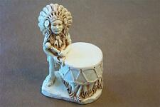 INDIAN DRUM Figurine Jewelry Box kingdom harmony Keepsake Castagna New