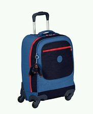 Kipling licia school bag 4 wheel spinner cabin trolley laptop case BLUE rrp£159