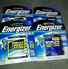 4 × Energizer Ultimate Lithium AA Batteries 4 Pack - Free Postage