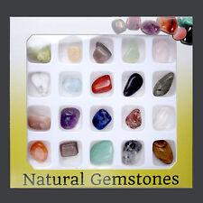 20er Natur Edelsteine Sammlung Amethyst Quarz Jaspis Howlith Mini Steine Set