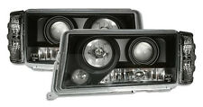 Clear Black finish projector headlights set for MERCEDES W201 83-93 with blinker