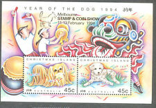 Christmas Island-Year of the Dog 1994 m/s Melbourne opt mnh