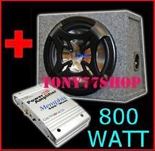 ATTIVO KIT BASS BOX ACUSTICO 1000 WATT SUBWOOFER + AMPLIFICATORE MONO / 2 CANALI
