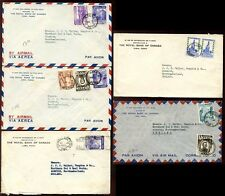 PERU c1938 AIRMAIL ROYAL BANK of CANADA...18 stamps on 8 COVERS