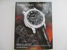 Important Watches. 40 Years in Asia. Sotheby's. Hong Kong. 8 Oktober, 2013