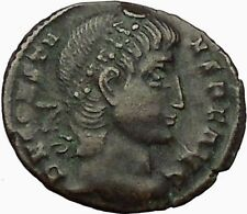 Constans Gay Emperor Constantine the Great son Roman Coin Glory of Army   i34998