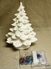 Ceramic Bisque 19 inch Christmas Tree Nowell Mold 342 Ring Kit Ready To Paint