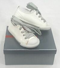 KIDS PRADA SNEAKERS WHITE  LACE UP   SIZE EU 25 / USA 7 PRE SCHOOL