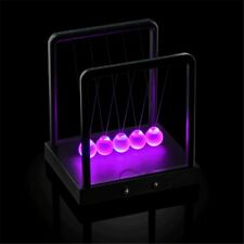 New Newtons Cradle Light Up Kinetic Energy LED Home Office Science Toys Gift