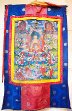Ancienne Thangka Tibet 19e Antique grande Tanka Thanka Tangka Bhaishajyaguru