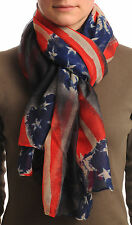 Vintage American Flag Unisex Scarf and Beach Sarong (SF000919)