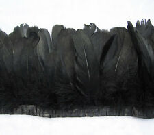 50pcs 6-7 inchs SWAN SHOULDER FEATHERS dyeing Black color for Craft Supplies ZW4