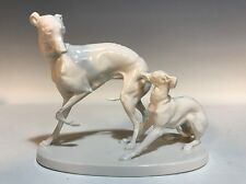 Nymphenburg Whippet Group Blanc de Chine Figurine - PJ MENE - Greyhound/Dog