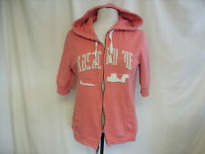 "Ladies Hoodie Abercrombie & Fitch, bust 38"", pink, distressed look, zipped 1916"