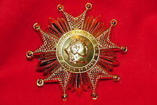 FRENCH LEGION OF HONOR  NATIONAL ORDER - GRAND CROSS STAR 18 CARAT GOLD PLATE