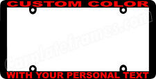 RED LETTERING THIN STYLE CUSTOM PERSONALIZED COLOR License Plate Frame