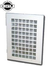 UPMANN 56255 Lüftungsgitter 14x18,5/30x16cm Stahlblech, ws +EBR +Insektenschutz