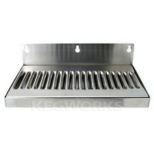 "10"" Wall Mount Drip Tray - Stainless Steel - No Drain - Bar Draft Bar Beer Spill"