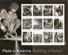 MADE IN AMERICA US 2013 Scott #4801e WELDING TORCH WORKER 12 Forever Stamp Sheet