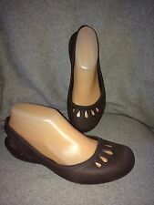 Women's Crocs Jayna Brown Sling Back Mary Jane Flats, Size 7