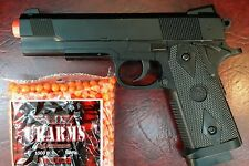 Heavy duty Full Metal Spring Airsoft Gun Pistol With FREE 2000 BB'S BULLETS