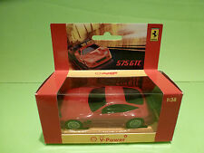 HOTWHEELS SHELL V-POWER HOLLAND FERRARI 575GTC - RED 1:38 - RARE SELTEN - NMIB