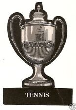 Queen's Cup Tennis  Rare Die Cut Trophy Card